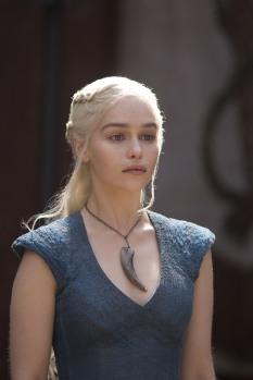 Emelia Clarke as Daenerys Targaryen in Game of Thrones